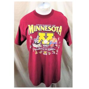 Vintage 1997 Minnesota Gophers (Large) Excellence In Athletics College T-Shirt (Main)