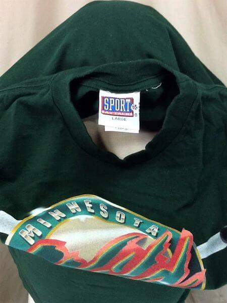 Vintage 2000's Minnesota Wild (Large) Retro Graphic NHL Hockey T-Shirt (Tag)