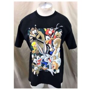 Vintage 90's Disney's Mickey Mouse (Large) The Whole Crew Retro Cartoon T-Shirt (Main)