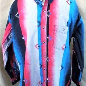 Vintage 90's Express Rider Apparel (XL-2XL) Button Up Western Wear Shirt (Front)