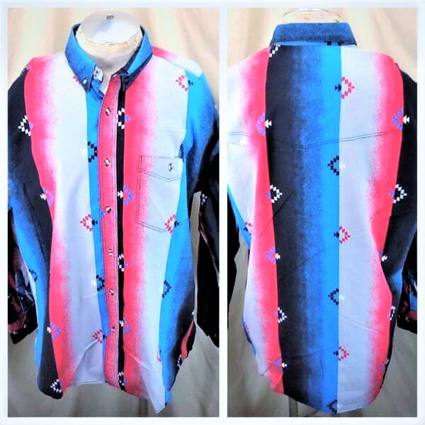 Vintage 90's Express Rider Apparel (XL-2XL) Button Up Western Wear Shirt (Main)