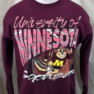 Vintage 90's Minnesota Gophers (Med/Large) Retro College Crew Neck Sweatshirt (Front)