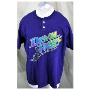 Vintage 90's Tampa Bay Devil Rays (XL) MLB Baseball Classic Logo T-Shirt (Cover)