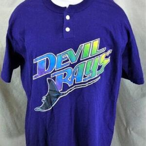 Vintage 90's Tampa Bay Devil Rays (XL) MLB Baseball Classic Logo T-Shirt (Front)