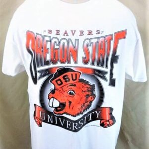 Vintage 90's Tultex Oregon State Beavers (XL) Retro College Apparel Graphic T-Shirt (Main)