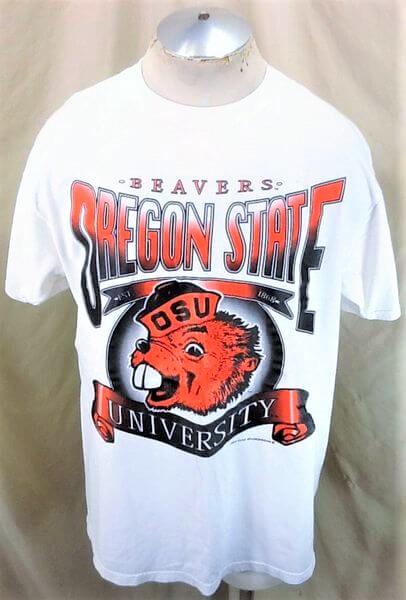 Vintage 90's Tultex Oregon State Beavers (XL) Retro College Apparel Graphic T-Shirt (Main)