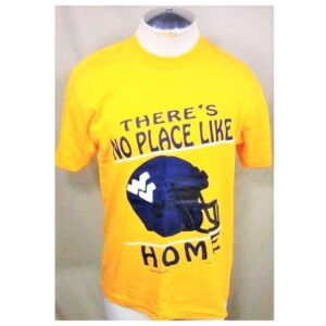 Vintage 90's West Virginia Mountaineers (Large) Retro WVU College Single Stitch Shirt (Main)