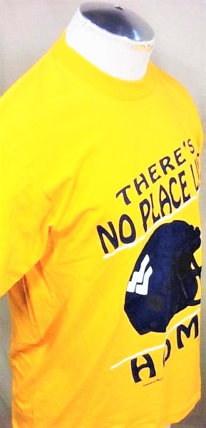 Vintage 90's West Virginia Mountaineers (Large) Retro WVU College Single Stitch Shirt (Side)