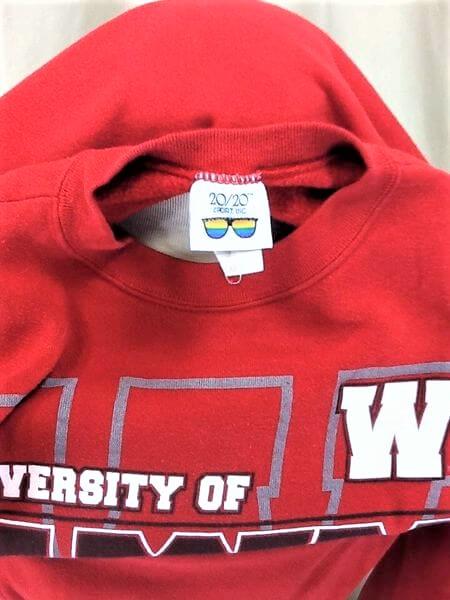 Vintage 90's Wisconsin Badgers (Med-Large) Retro Crew Neck College Sweatshirt (Tag)