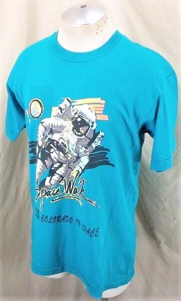 Vintage CU Boulder Space Walk (Large) Colorado In Space Single Stitch T-Shirt (Side)