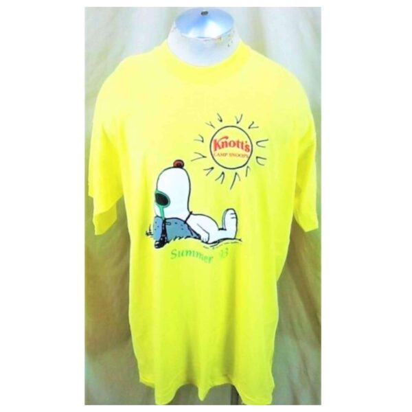 Vintage Knott's Camp Snoopy Summer '93 (2XL) Retro Graphic Single Stitch T-Shirt (Main)
