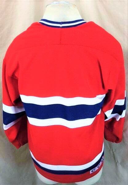 Vintage Montreal Canadiens Hockey (Med) Retro NHL Apparel Knit Jersey (Back)
