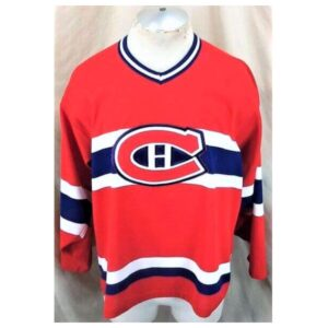 Vintage Montreal Canadiens Hockey (Med) Retro NHL Apparel Knit Jersey (Main)