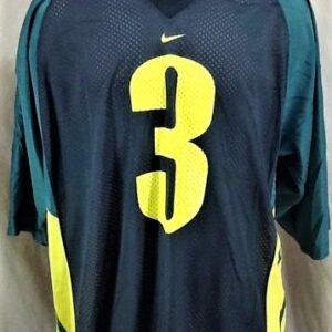 Vintage Nike Oregon Ducks #3 (XL) Retro College Football Graphic Jersey (Front)