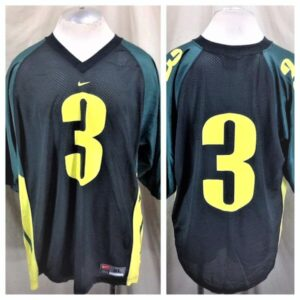 Vintage Nike Oregon Ducks #3 (XL) Retro College Football Graphic Jersey (Main)