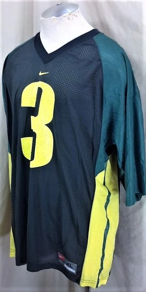 Vintage Nike Oregon Ducks #3 (XL) Retro College Football Graphic Jersey (Side)