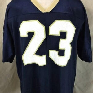 Vintage Notre Dame Fighting Irish #23 (XL) Retro Graphic College Football Jersey (Front)