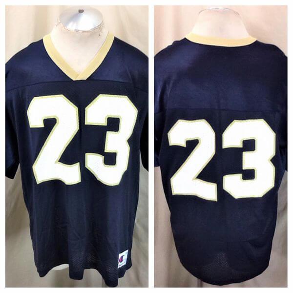 Vintage Notre Dame Fighting Irish #23 (XL) Retro Graphic College Football Jersey (Main)