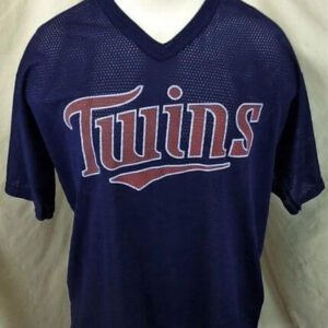 Vintage Torii Hunter #48 Minnesota Twins (Large) In Stadium Graphic Promo Jersey (Front)