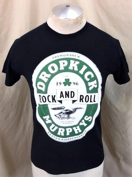 Dropkick Murphys Sham Rock & Roll (Small) Retro Punk Rock Black Concert T-Shirt (Front)