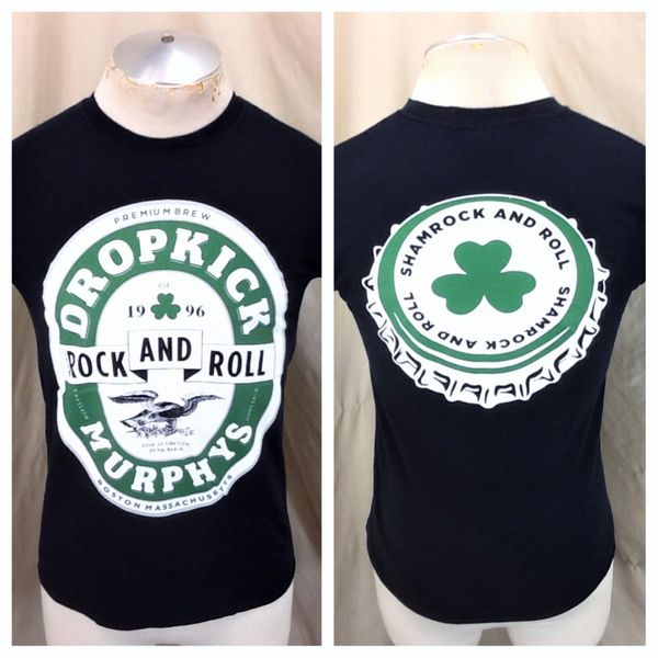 Dropkick Murphys Sham Rock & Roll (Small) Retro Punk Rock Black Concert T-Shirt (Main)
