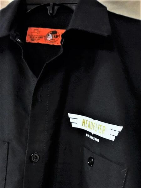 Headflyer Brewing Beyond The Door (Small) Red Kap Small Batch Series Brewing Shirt (Tag)