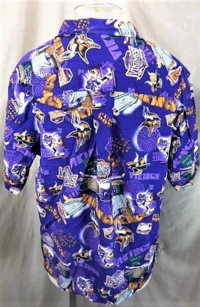 Minnesota Vikings Football Club (Med) All Over Graphic NFL Hawaiian Shirt (Back)