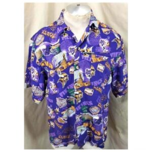 Minnesota Vikings Football Club (Med) All Over Graphic NFL Hawaiian Shirt (Main)