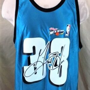 New! Vintage Detroit Pistons Grant Hill #33 (XL) Graphic NBA Basketball Jersey (Front)