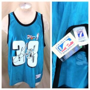 New! Vintage Detroit Pistons Grant Hill #33 (XL) Graphic NBA Basketball Jersey (Main)