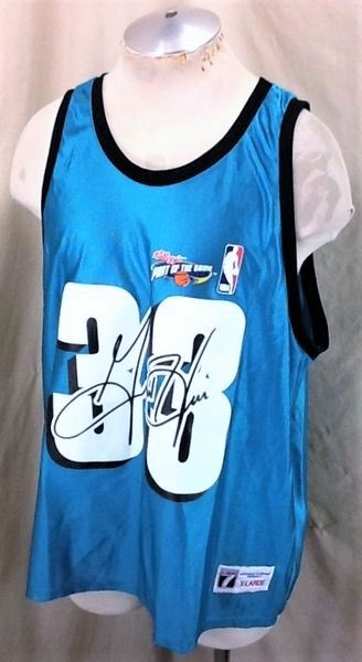 New! Vintage Detroit Pistons Grant Hill #33 (XL) Graphic NBA Basketball Jersey (Side)