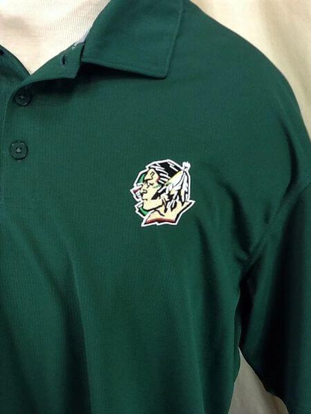 North Dakota Fighting Sioux (XL-2XL) UND Sioux Pullover Graphic Polo Shirt (Logo)