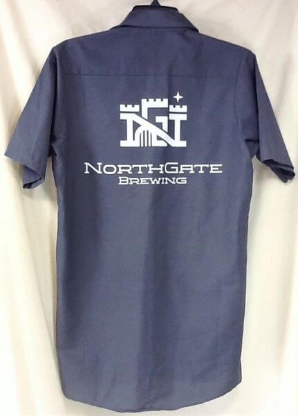 Red Kap Northgate Brewing (Small) Minneapolis Breweries Button Up Beer Shirt (Back)