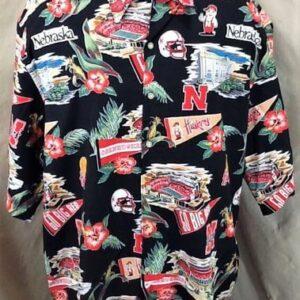 Reyn Spooner Nebraska Cornhuskers (3XL) College Sports Huskers Hawaiian Shirt (Front)