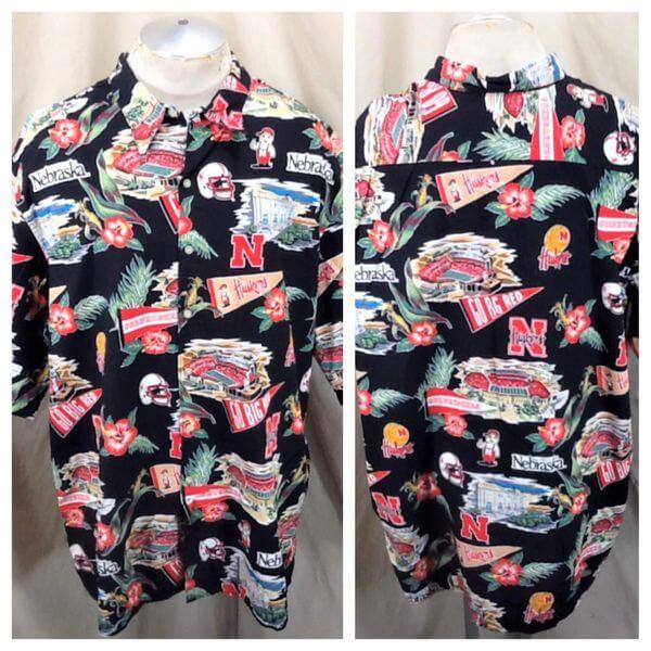 Reyn Spooner Nebraska Cornhuskers (3XL) College Sports Huskers Hawaiian Shirt (Main)