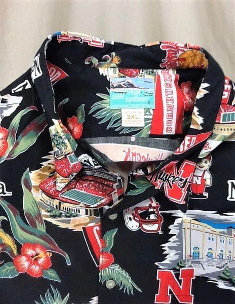 Reyn Spooner Nebraska Cornhuskers (3XL) College Sports Huskers Hawaiian Shirt (Tag)