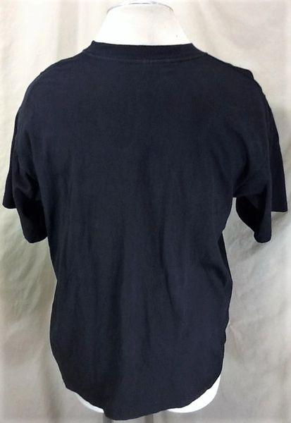 Vintage 1992 Frankenstein Real Men Wear Black (Large) Graphic Halloween T-Shirt (Back)