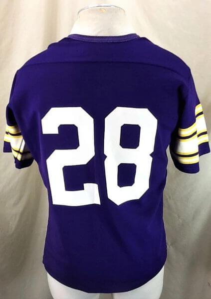 Vintage 80's Rawlings Ahmad Rashad #28 (Med) Minnesota Vikings Football Jersey (Back)