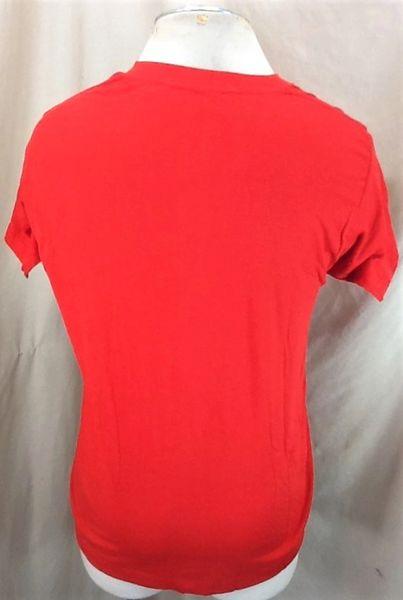Vintage 80's Square Dancing Square (L-XL) Retro Single Stitch Thin Graphic T-Shirt (Back)