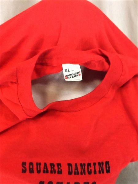 Vintage 80's Square Dancing Square (L-XL) Retro Single Stitch Thin Graphic T-Shirt (Tag)