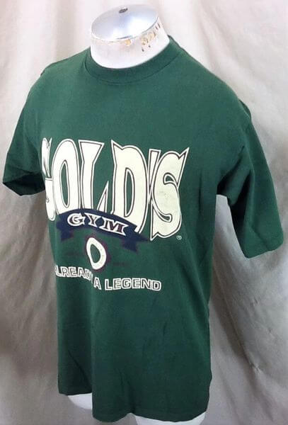 Vintage 90's Gold's Gym Already A Legend (Med) Active Wear Work Out T-Shirt (Side)