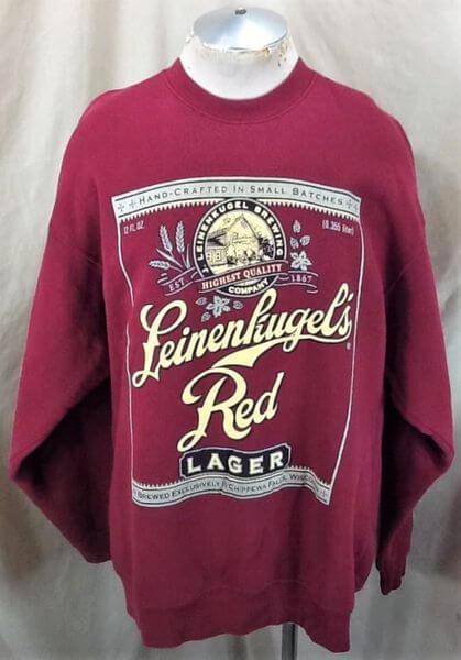 Vintage 90's Leinenkugel's Red Lager (2XL) Retro Leine's Brewing Company Crew Neck Sweatshirt (Front)