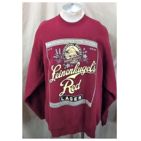 Vintage 90's Leinenkugel's Red Lager (2XL) Retro Leine's Brewing Company Crew Neck Sweatshirt (Main)