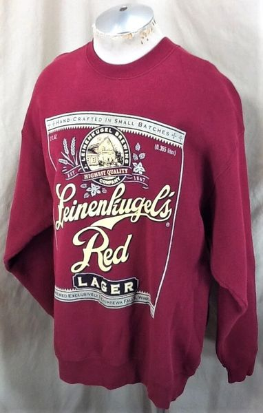 Vintage 90's Leinenkugel's Red Lager (2XL) Retro Leine's Brewing Company Crew Neck Sweatshirt (Side)