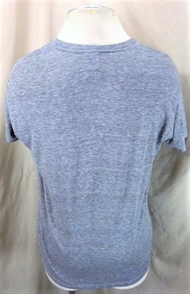 Vintage 90's Logo 7 Minnesota Gophers (L-XL) Retro NCAA Ultra Thin Rayon Gray T-Shirt (Back)