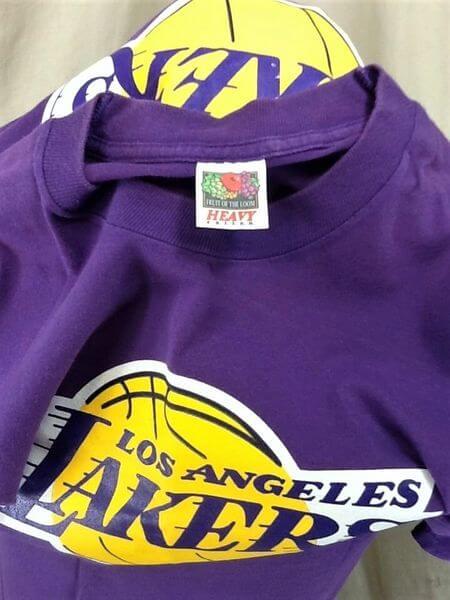 Vintage 90's Los Angeles Lakers Classic Logo (XL) NBA Basketball Graphic T-Shirt (Tag)