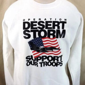 Vintage 90's Operation Desert Storm (XL) Support Our Troops Crew Neck Sweatshirt (Front)