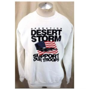 Vintage 90's Operation Desert Storm (XL) Support Our Troops Crew Neck Sweatshirt (Main)