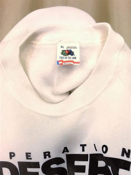 Vintage 90's Operation Desert Storm (XL) Support Our Troops Crew Neck Sweatshirt (Tag)