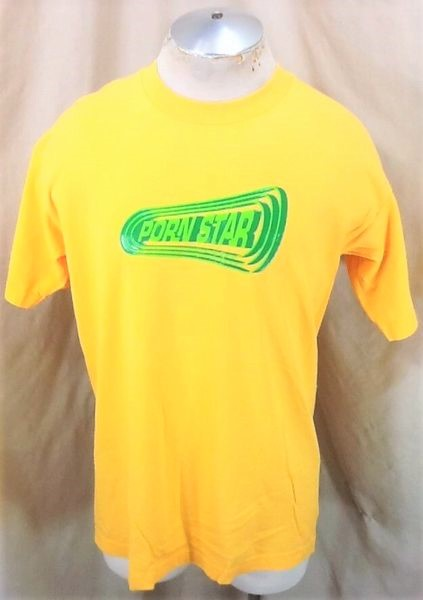 Vintage 90's Porn Star Clothing Brand (Large) Classic Skateboard Graphic T-Shirt (Front)